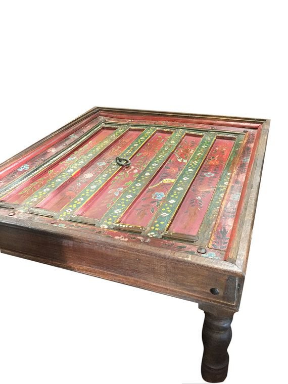 JAIPUR Antique Indian Furniture Coffee Table Red By MOGULGALLERY