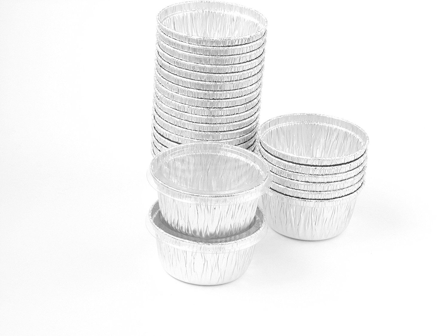 Disposable Aluminum 4 Oz Ramekins Foil Cups W Clear Snap On Lid Number1400p 250 Find Out More Details Ramekins And Baking Ramekins Cup Lidded