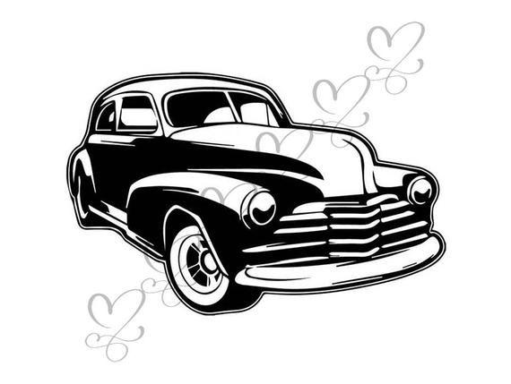 Muscle Car Antique Old Classic Retro Transportation Vehicle Automobile Auto .SVG…