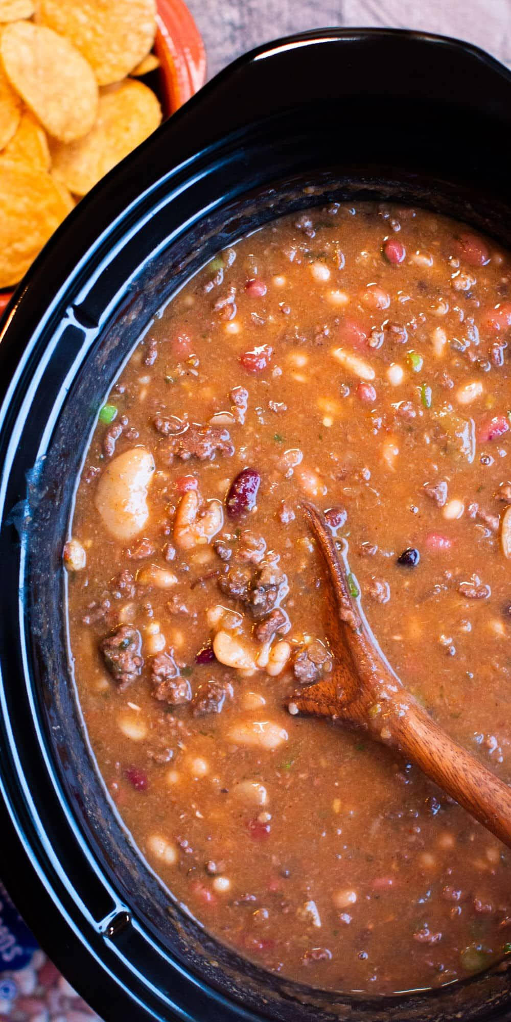 Slow Cooker Taco 15 Bean Soup