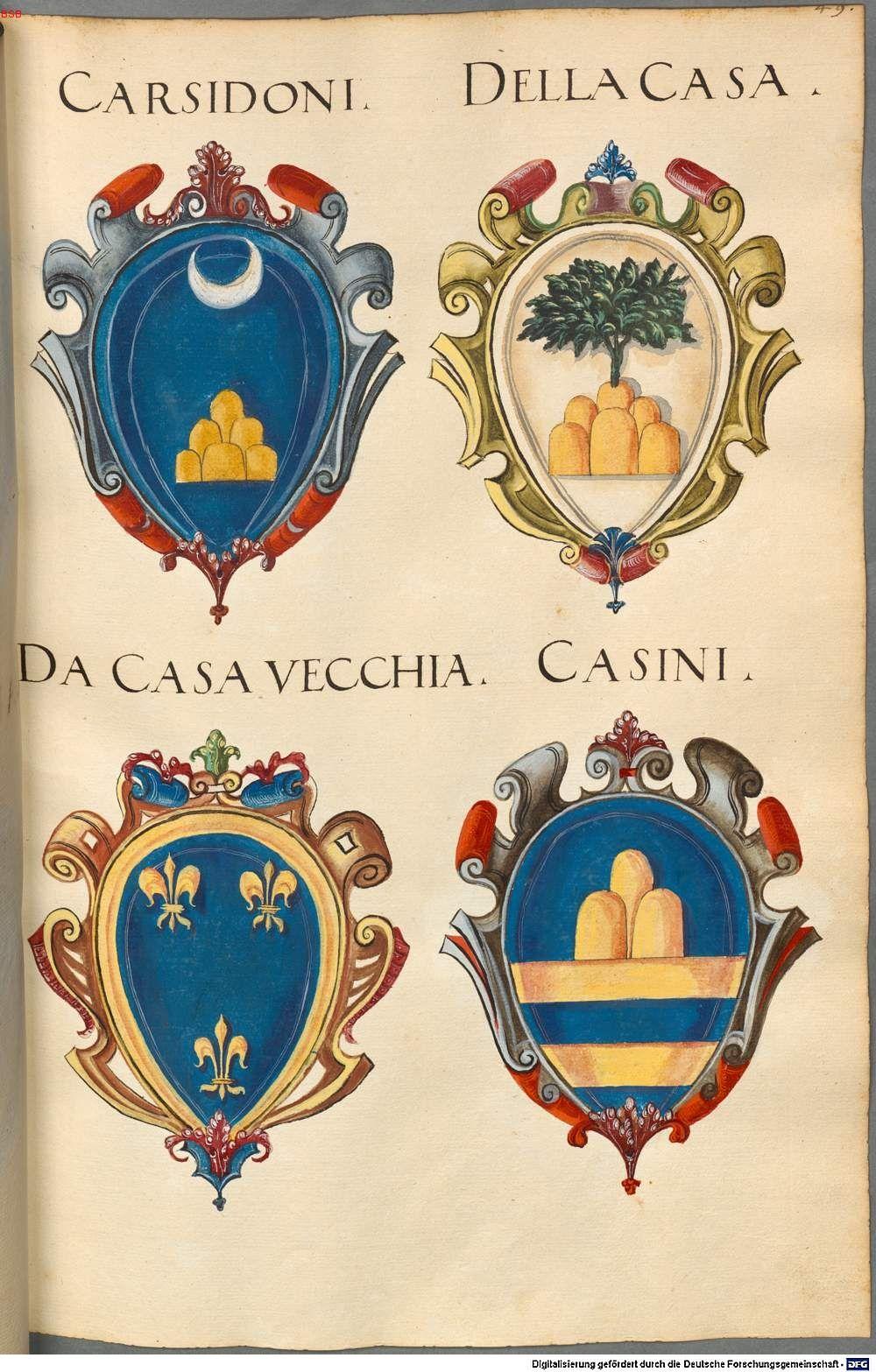 Insignia ... XII. Insignia Florentinorum - BSB Cod.icon. 277, [S.l.] Italien, 1550-1555 [BSB-Hss Cod.icon. 277]