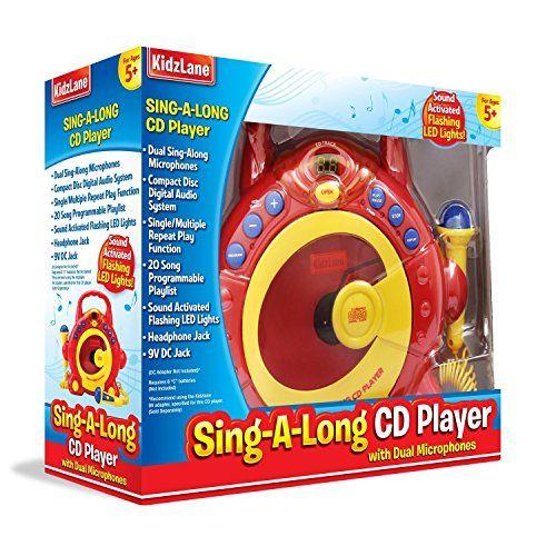 portable kids cd player amp karaoke machine for kids sing