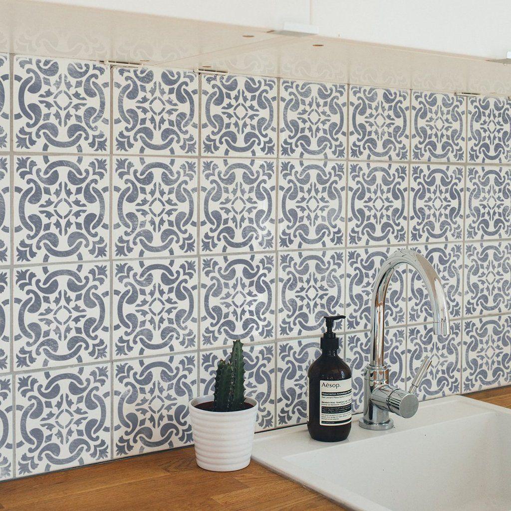 - GRACIA - Portuguese Tile Stencil - Spanish Tile Stencil In 2020