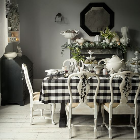 Christmas Decorating Ideas Christmas Dining Room Black And White Dining Room White Decor