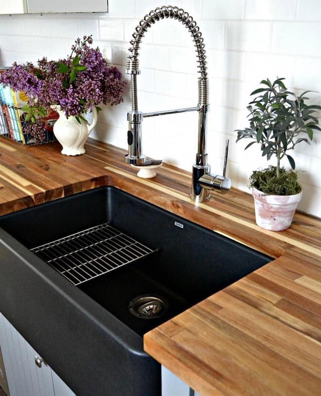 46 Best White Kitchen Cabinet Ideas And Designs Kitchen Sink Decor Sink Design Kitchen Sink Design