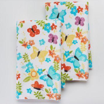 Sonoma Goods For Life 2 Pc Butterflies Kitchen Towel Set