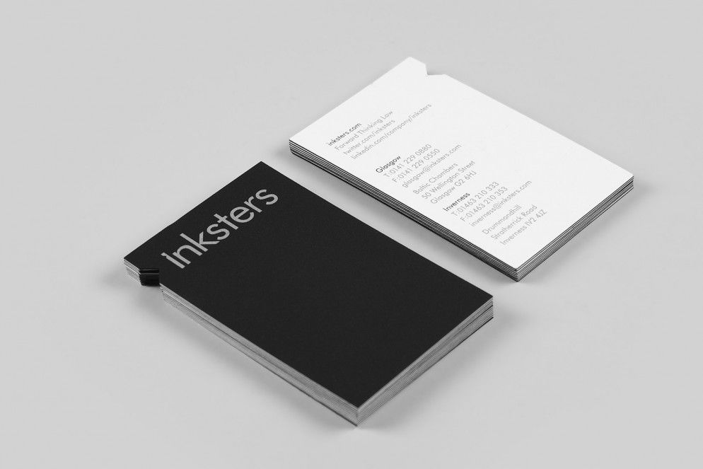 Business Cards And Vial Identity For Inksters By O Street Business Card Design Name Cards Stationery Design