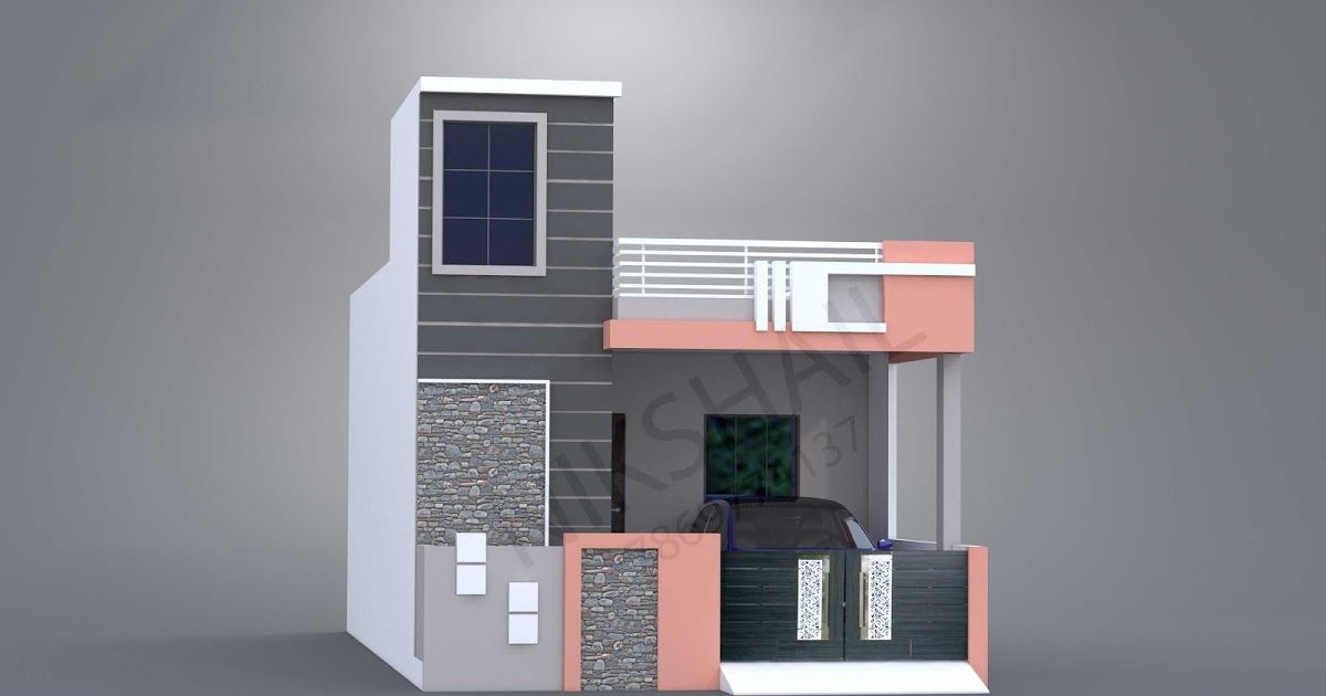 20x40 House Planning In This Post Ground Floor Plan There Are Three Elevation Color Option Of Thi 20x40 House Plans Single Floor House Design 2bhk House Plan