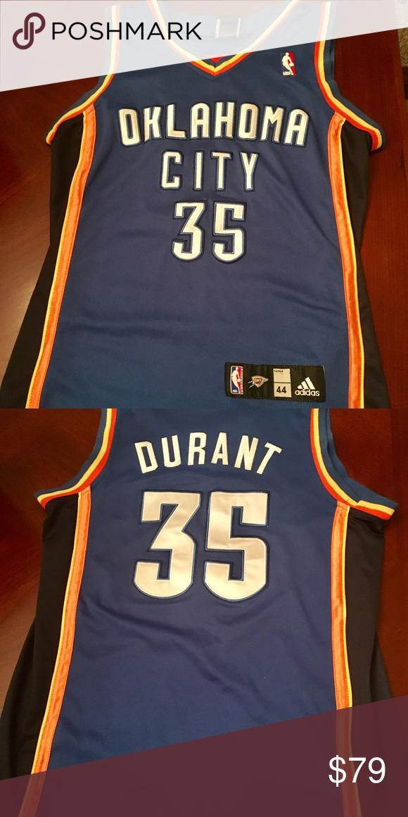 9c7b156a4 Oklahoma City Jersey Kevin Durant OKC Thunder retro jersey. Barely worn.  Size 44. All sewn. adidas Shirts Tank Tops