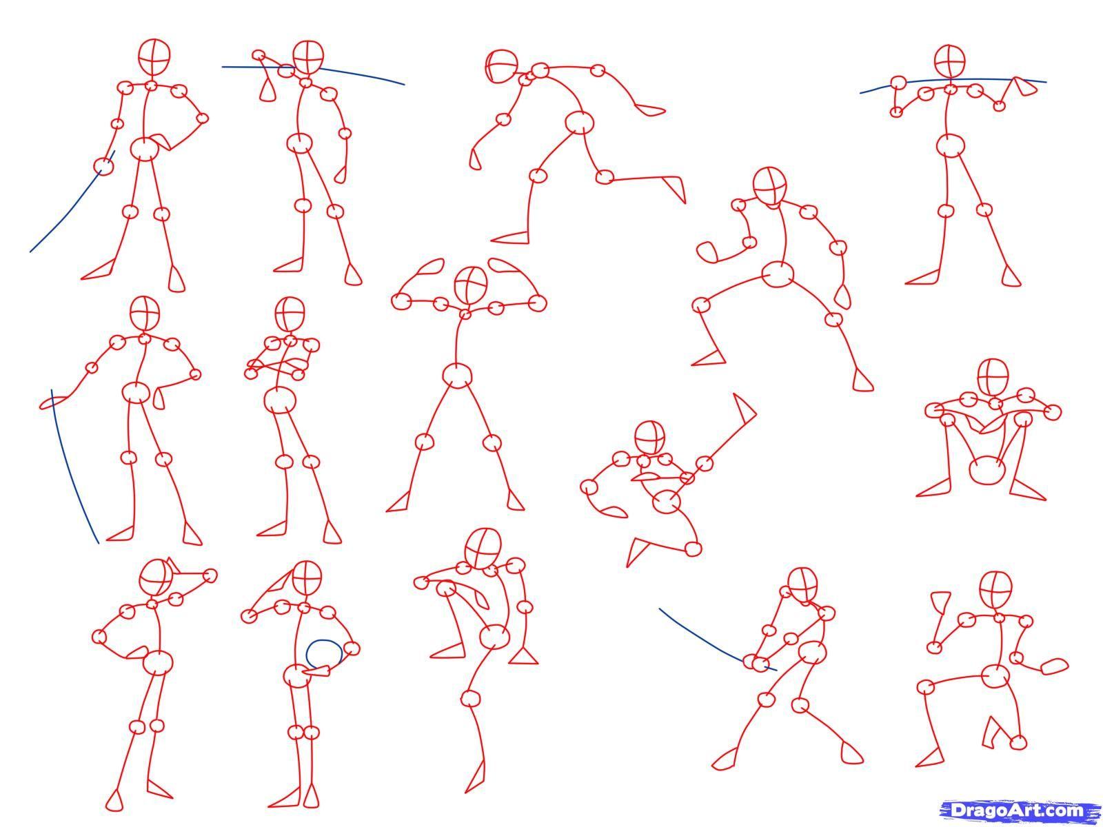 drawing poses | Draw Anime Poses, Step by Step, Anatomy, People ...