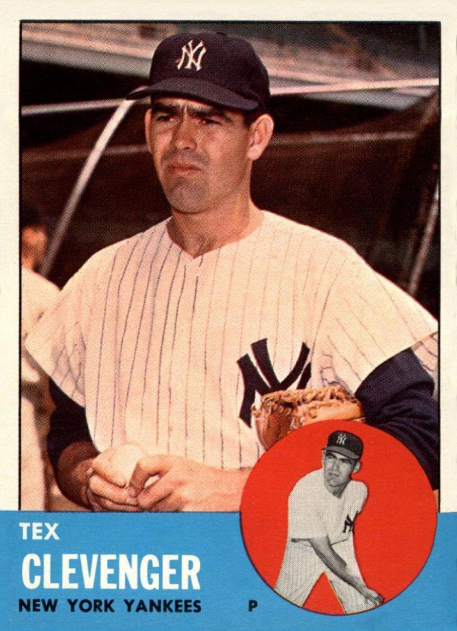 1963 Topps Tex Clevenger | Topps Baseball Cards | Baseball ...