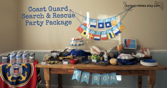 Coast Guard Party Package With Banner Promotions Retirement