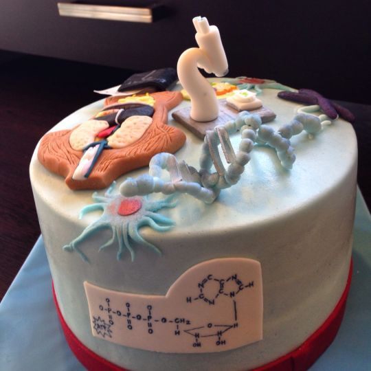 Magnificent Birthday Cake For A Biology Teacher Tartas Creativas Tortas Tartas Personalised Birthday Cards Petedlily Jamesorg