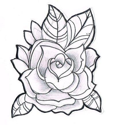 Gambar Bunga Mawar Roses Sketch Drawings Rose Drawing