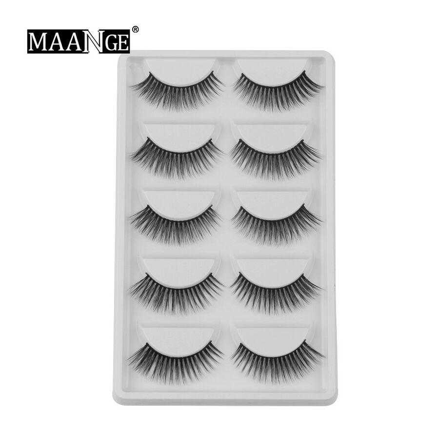 66aa6f56eb8 2/5/7 Pairs 3D Mink Soft Long Natural Thick Makeup Eye Lashes False  Eyelashes #Ad Long#Natural#Soft