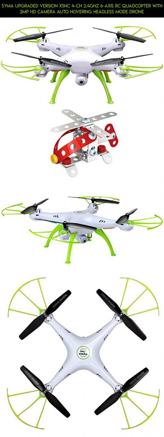 Syma Upgraded Version X5hc 4 Ch 24ghz 6 Axis Rc Quadcopter With 2mp X8c Venture 4ch 2 Mp Full Hd Camera White