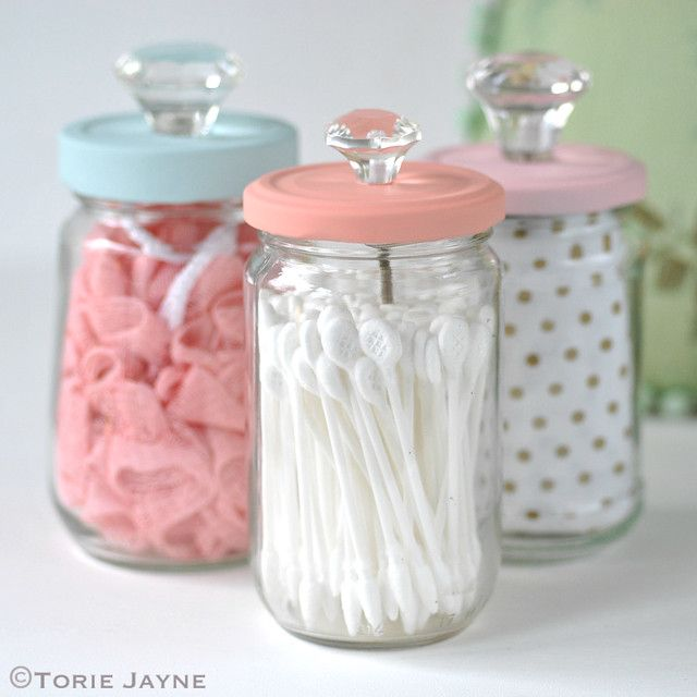 Upcycled Jars with Knobs 1