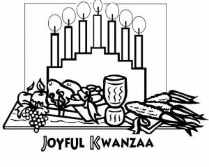 Traditional African Mask For Holiday Kwanzaa Coloring Page - Kwanzaa-coloring-pages