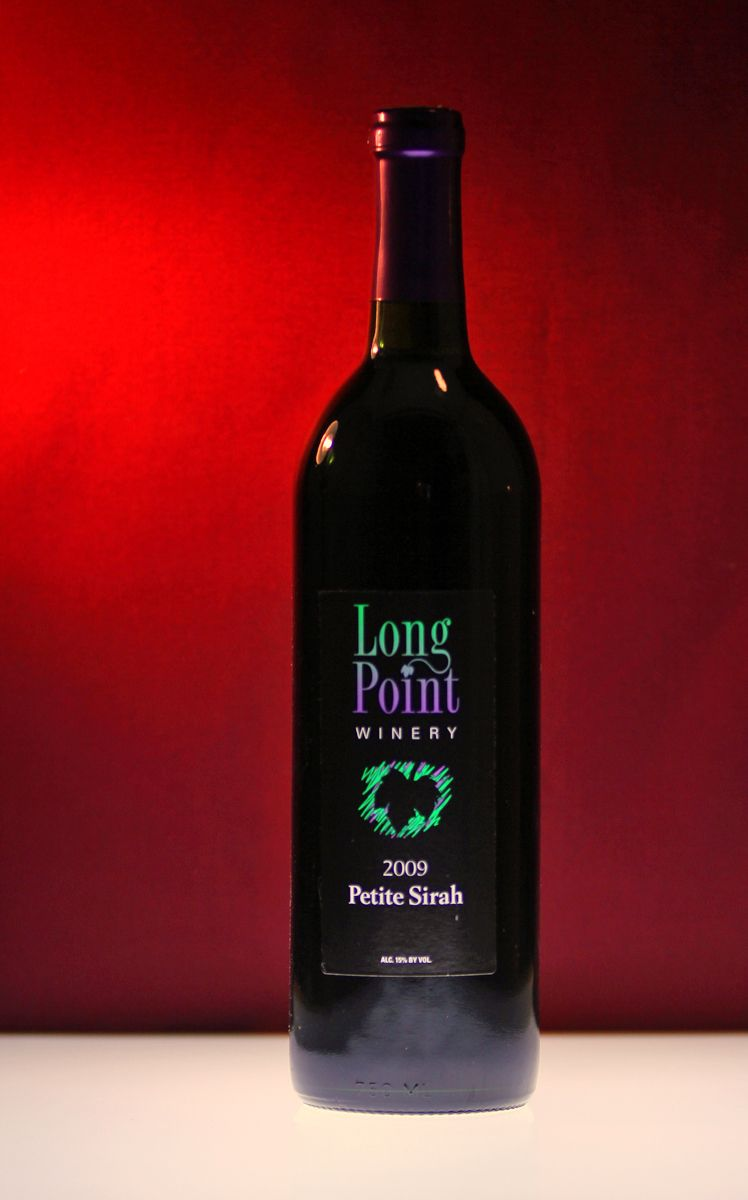 Long Point Winery Petite Sirah Finger Lakes Wine Bottle Zinfandel Red Wine