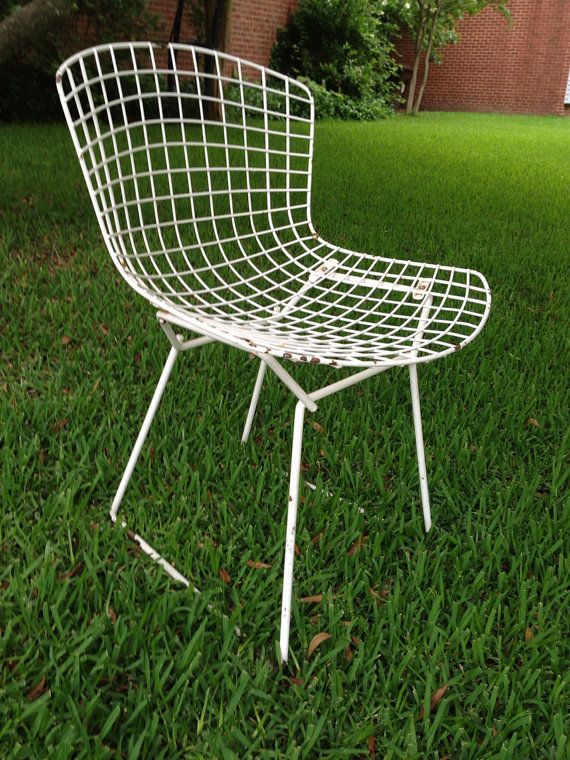 Vintage Side Chair By Harry Bertoia For Knoll Authentic Via Etsy Bertoia Vintage Knoll Side Chairs