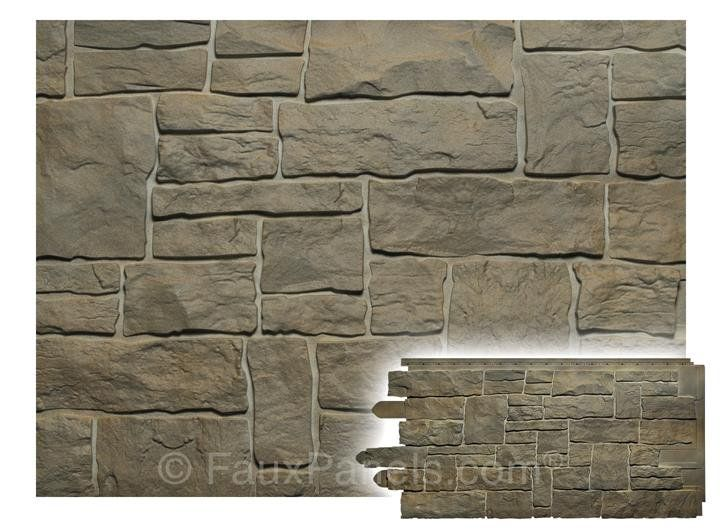 Faux Stone Siding To Give Any Exterior A Quiet Yet Impressive Look Of Real Stone Its Polymer Materia Stacked Stone Walls Faux Stone Walls Stone Walls Interior