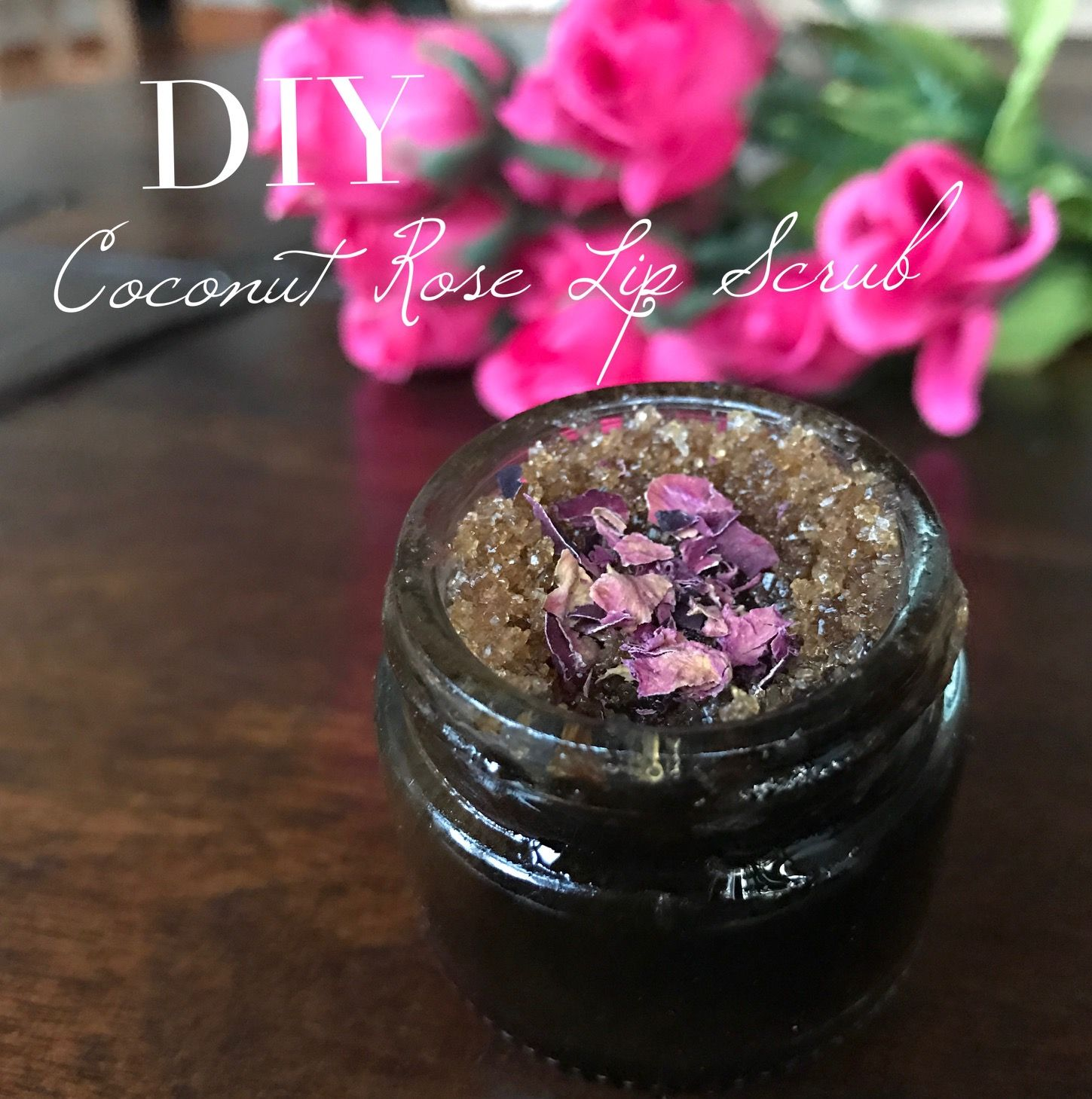 DIY Coconut Rose Lip Scrub - Vegan Beauty Review