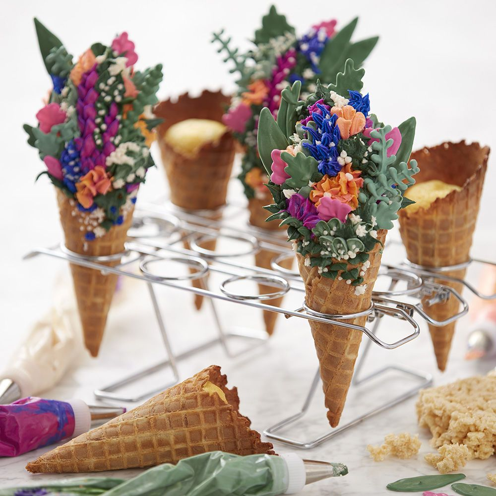 Forget The Traditional Cupcake These Stunning Spring Floral Cones