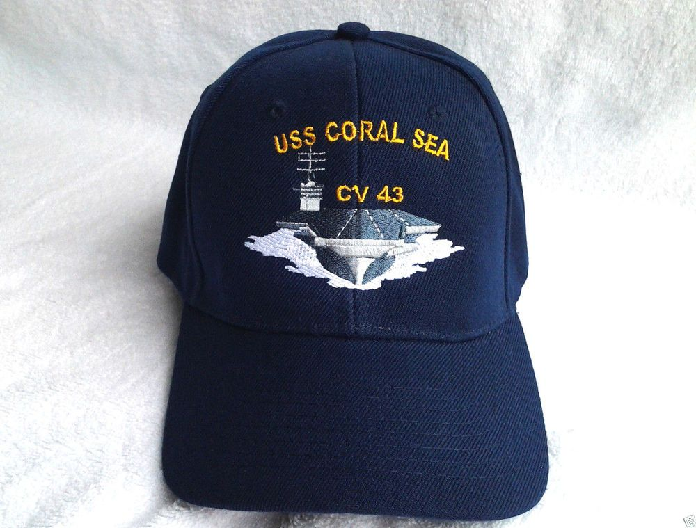 Details about USS CORAL SEA CV-43 U S NAVY SHIP HAT U S MILITARY