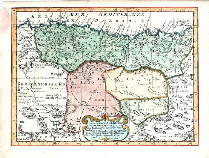 Antique Map Of Barbary North Africa By N Sanson 1705 Y2024