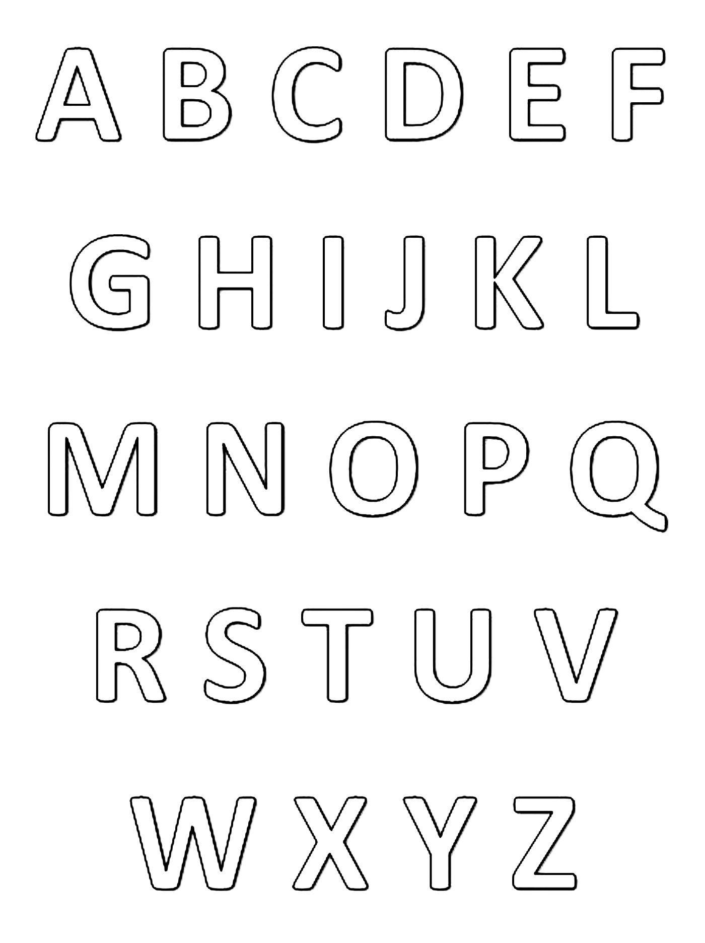 Alphabet a colorier   Dessins Éducatifs   Page 32   Alphabet à ...