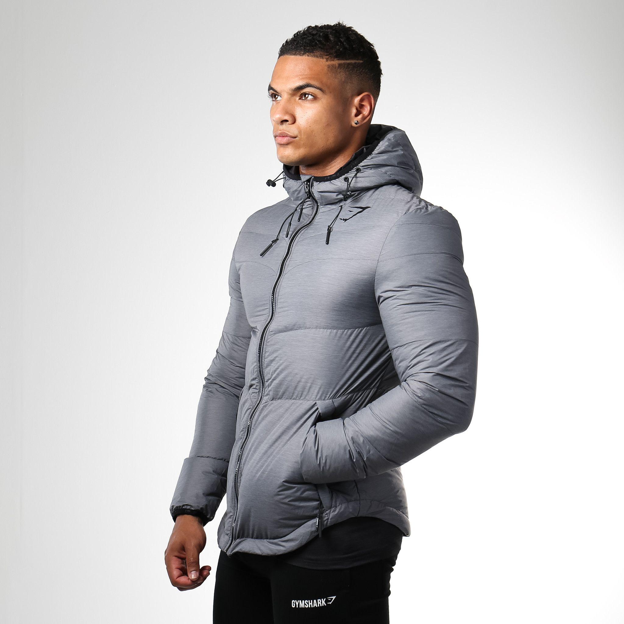 Gymshark Mens Sector Jacket Charcoal Hoodies Men Workout Hoodie Gym Hoodie [ 2048 x 2048 Pixel ]