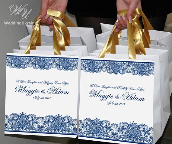 25 Wedding Gift Bags For Favors For Guests Personalized Welcome