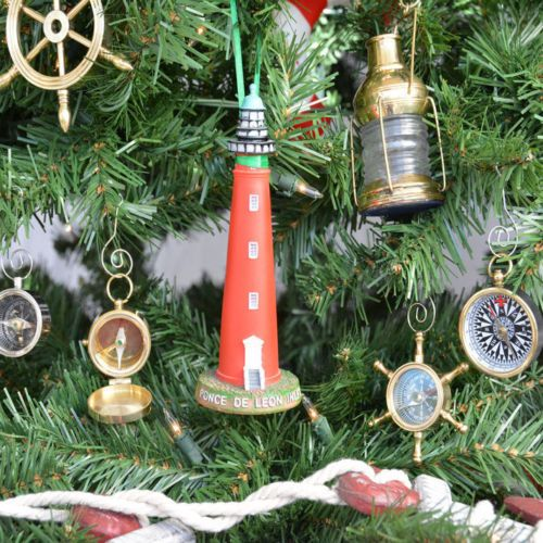 handcrafted nautical decor ponce de leon lighthouse christmas tree ornament