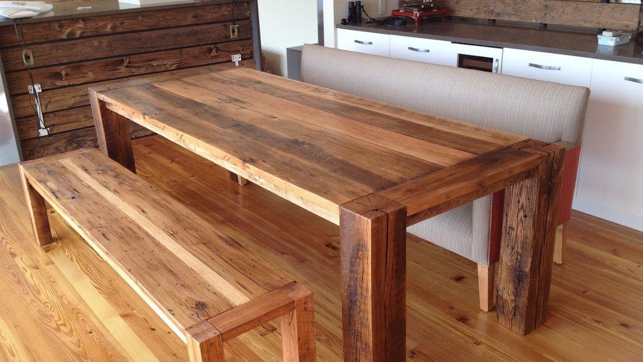 Оригинальный деревянный столик из старых досок СВОИМИ РУКАМИ handmade wo...