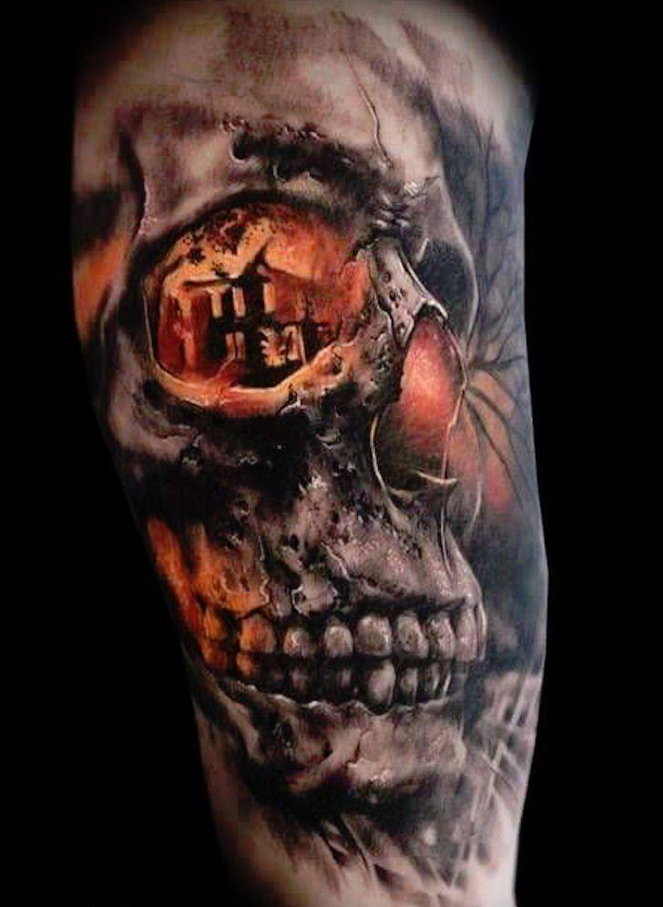 Totenkopf arm männer tattoos Sleeve Tattoo: