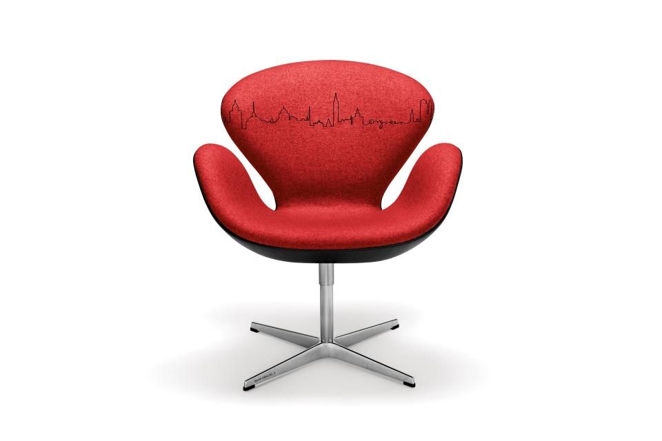 special edition swan chair for auction for red cross   great