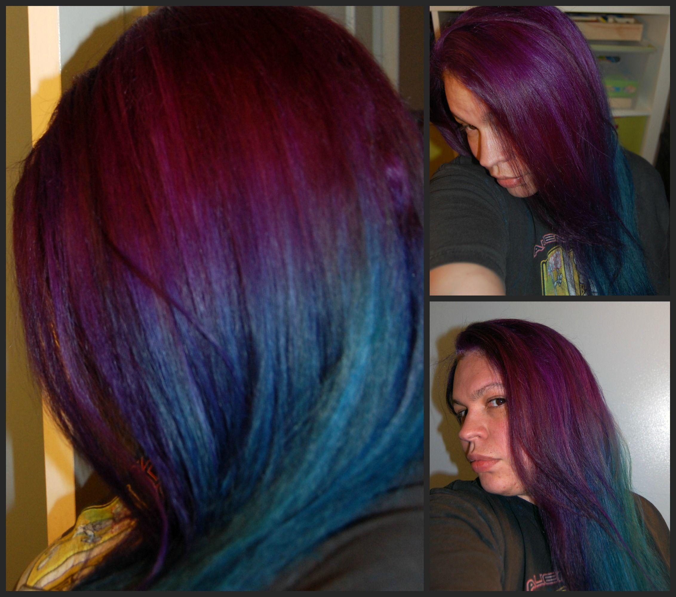 Nice combination u current hair manic panic purple