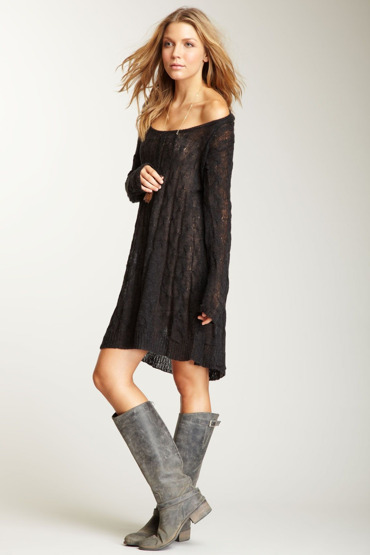 Free people angel cable pullover dress style pinterest free