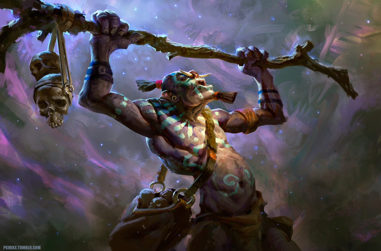 look at it go i had to do it dota 2 witch doctor fanart the