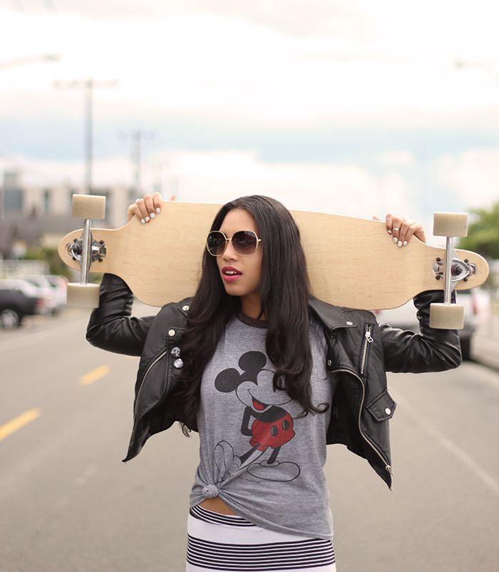 Kim from Pretty Slick Chick in the Moto Zip Crop Jacket (http://www.nastygal.com/product/moto-zip-crop-jacket)