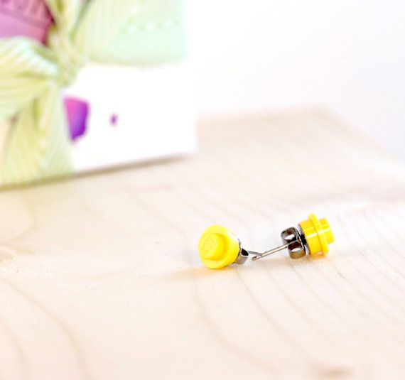 Easter gifts for girls yellow lego earrings lego post easter gifts for girls yellow lego earrings lego post earrings yellow negle Choice Image