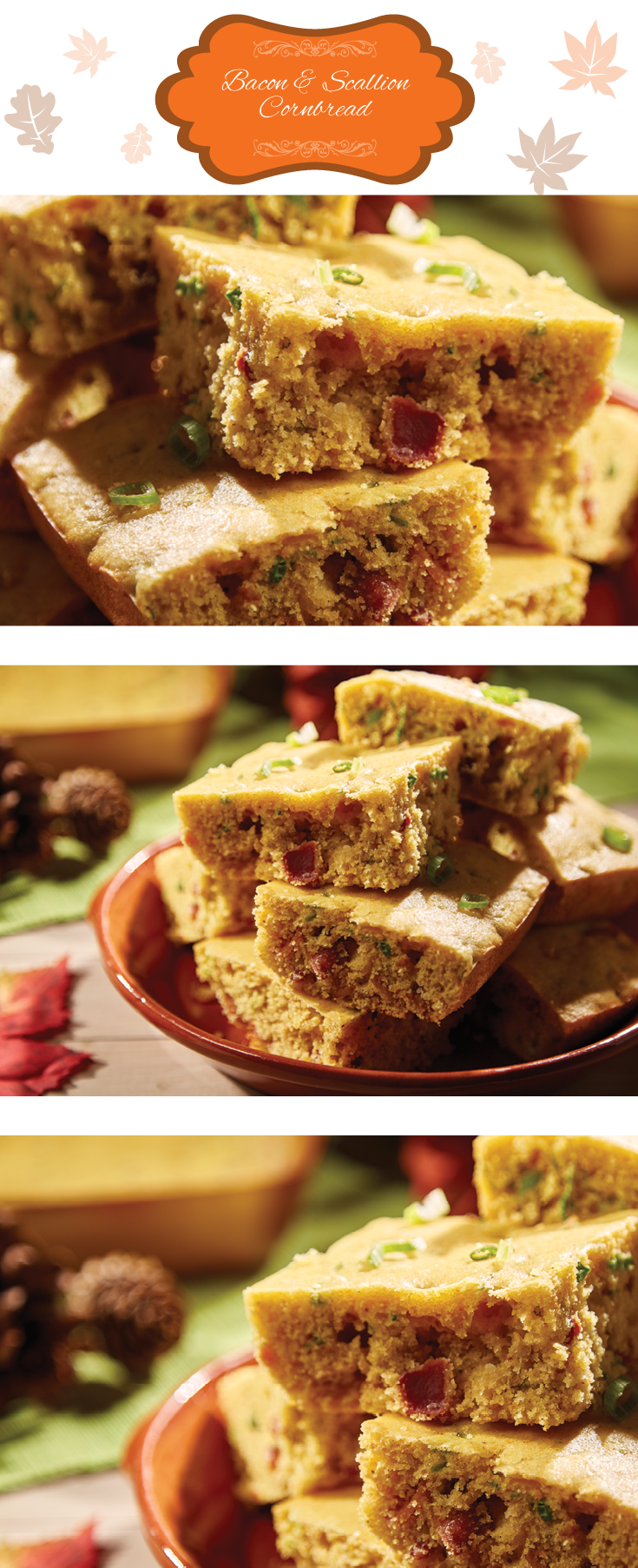 You will love Bacon and Scallion Cornbread made in the Copper Chef Pan! Try the recipe this Thanksgiving!