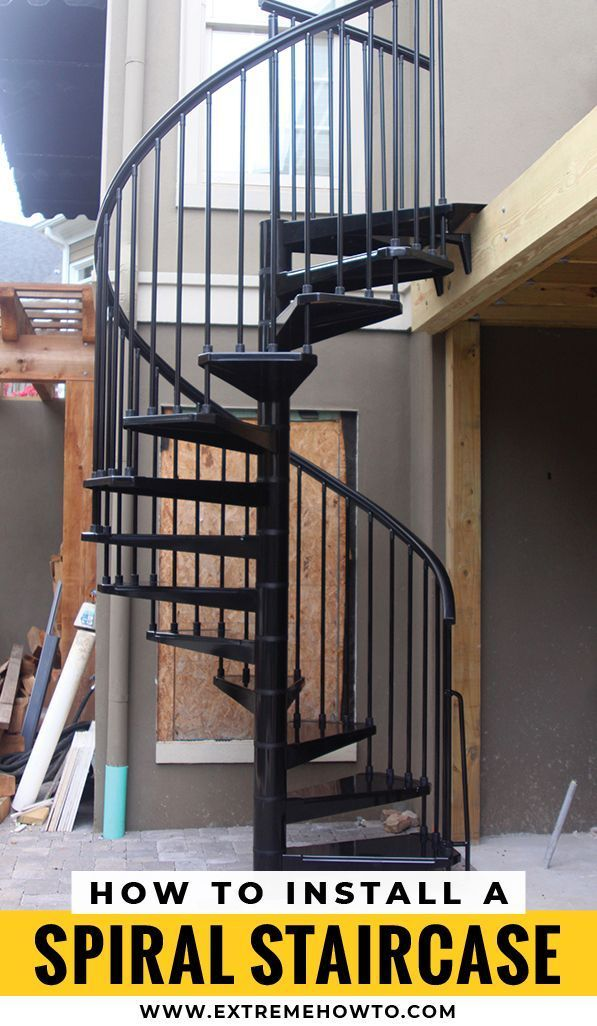 Best How To Install An Outdoor Spiral Staircase Diy Stairs 640 x 480