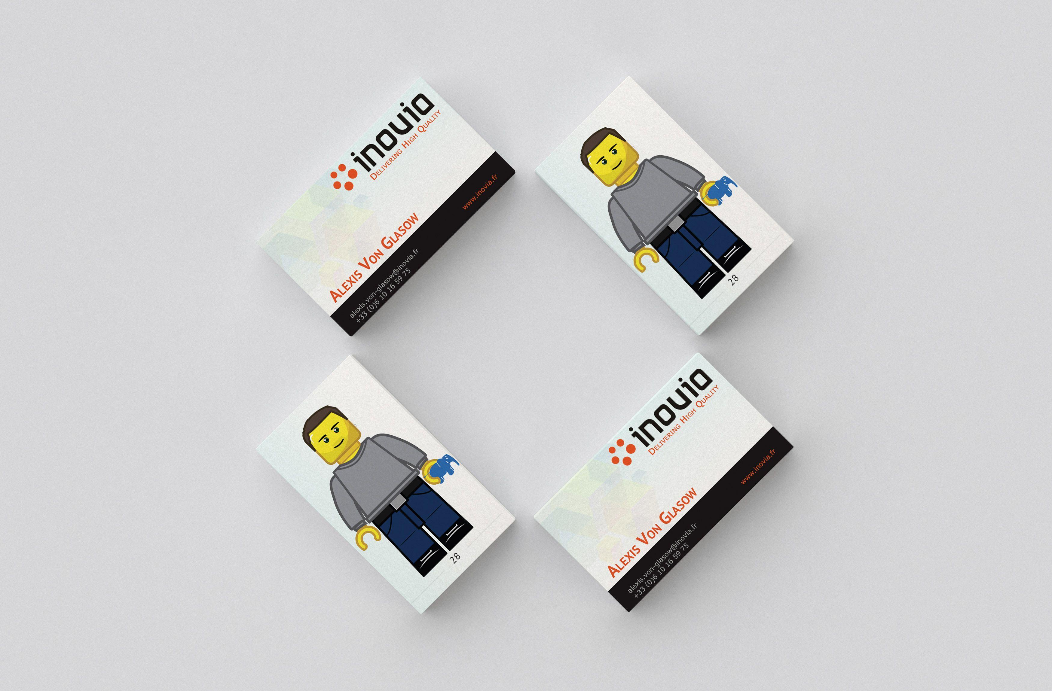 Cartes De Visite Originales Avec Un Lego Comme Avatar