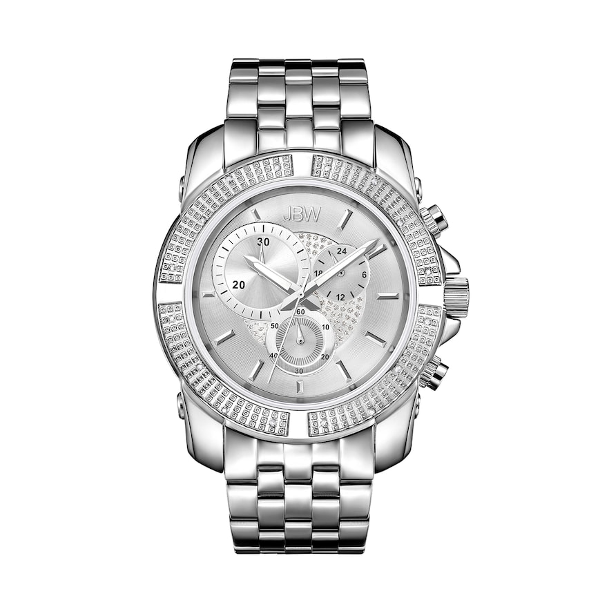 Men S Jbw Warren Diamond Accent Crystal Watch J6331b B