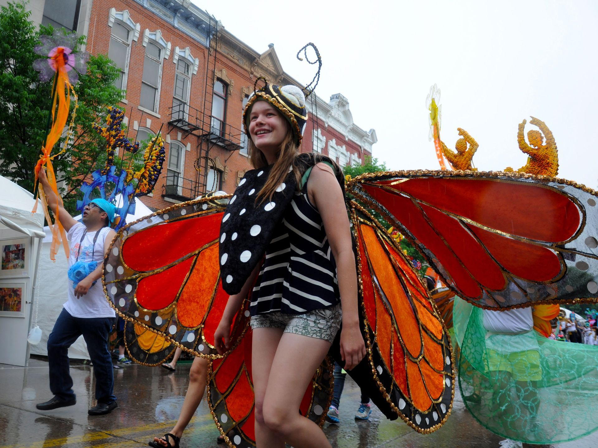 Iowa City Carnaval Parade, part of the Summer of the Arts events ...