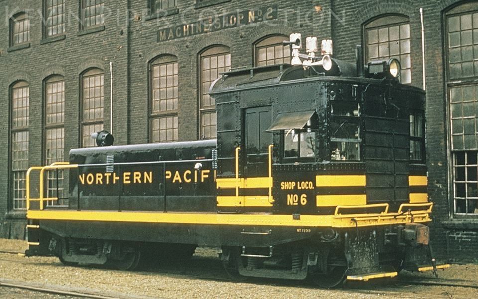 Northern Pacific exbox cab diesel modified for shop