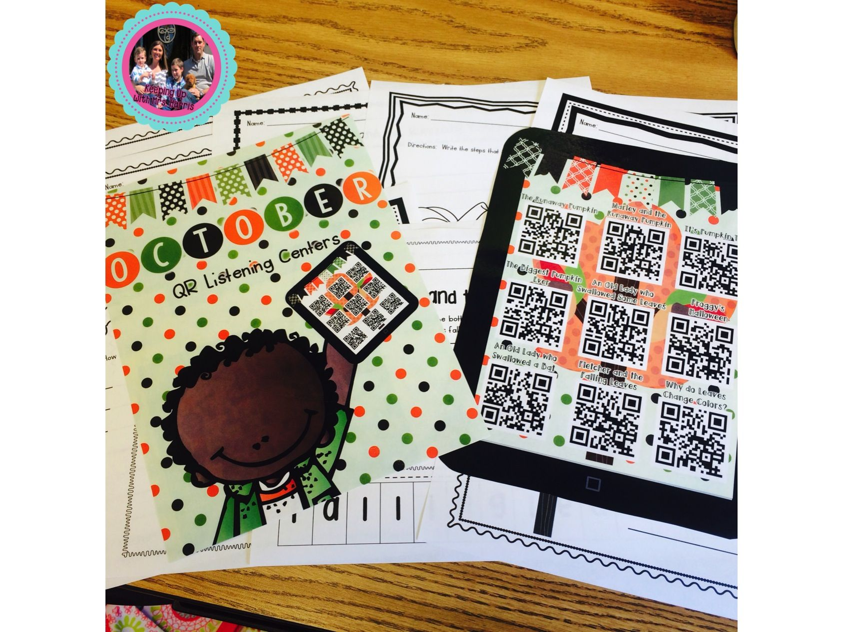 October Picture Books Used For A Qr Listening Center Scan