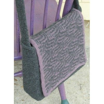 Valley Yarns 141 Purple Maze Messenger Bag Free Diy Pinterest