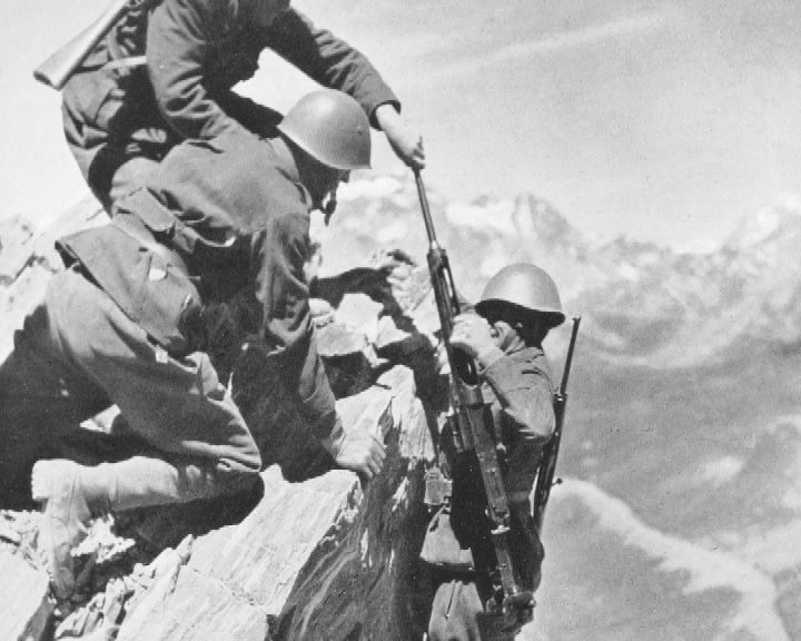 Image result for Italian soldiers the alps 1940